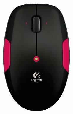Мышь Logitech Wireless Mouse M345 Black-Pink USB