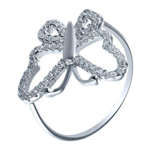 JV Кольцо с фианитами из серебра SS-B0842R-KO-001-WG, размер 16 jv кольцо с фианитами из серебра r27208 ko 001 wg размер 16