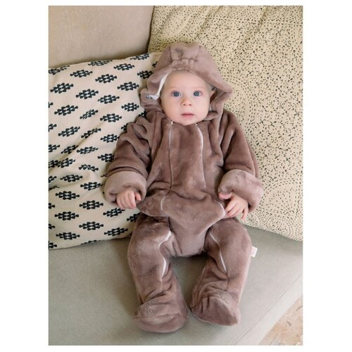 Комбинезон Веселый Малыш размер 62, коричневый