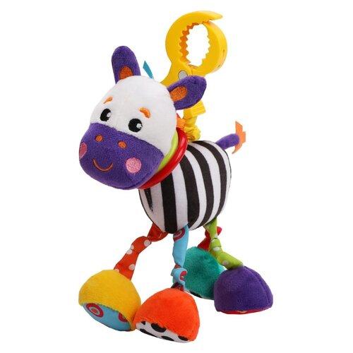 Купить Подвесная игрушка Жирафики Зебра (939712) желтый/белый/фиолетовый, Подвески
