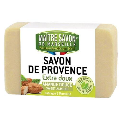 Мыло кусковое Maitre Savon de Marseille Миндаль, 100 г цена 2017