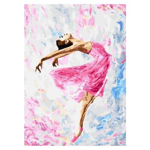 набор для рисования по номерам цветной элегантность в белом марка спейна 40 x 50 см Цветной картина по номерам Танцующая балерина 40 x 50 см (GX29767)