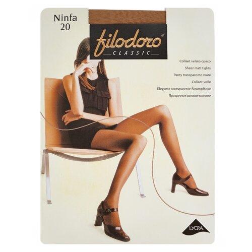 Колготки Filodoro Classic Ninfa 20 den, размер 5-XL, playa (бежевый) колготки filodoro classic ninfa 40 den размер 5 xl playa бежевый