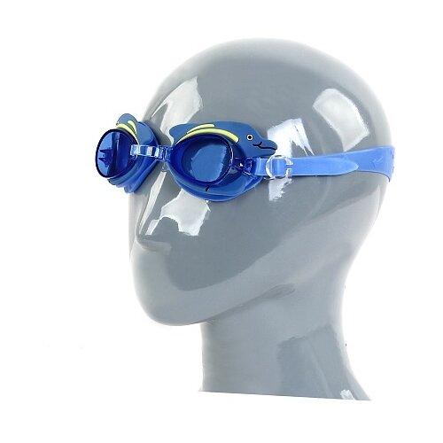 Очки для плавания Larsen DR-G1713 дельфин/синий