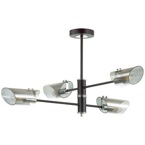 Люстра Lumion Nolan 4402/4C, E14, 160 Вт, кол-во ламп: 4 шт., цвет арматуры: хром, цвет плафона: серый люстра lumion nolan 4402 4c 160 вт