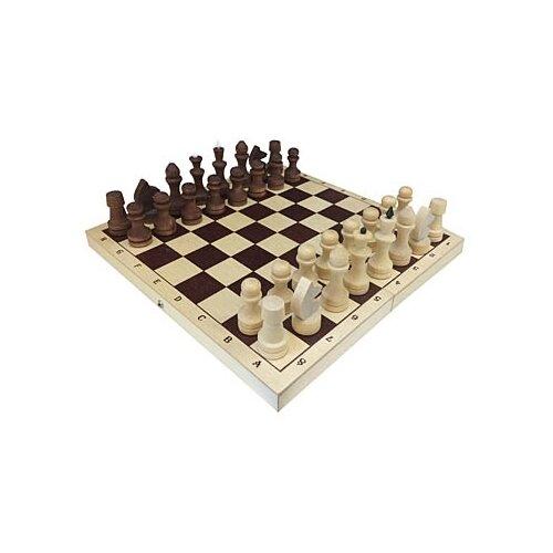 настольная игра шахматы гроссмейстерские с доской 43 21см ин 8976 Рыжий кот Шахматы обиходные парафинированные с доской ИН-7521