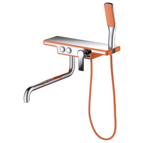 Душевой набор (гарнитур) D&K DA144331x оранжевый/хром душевой набор гарнитур argo 101