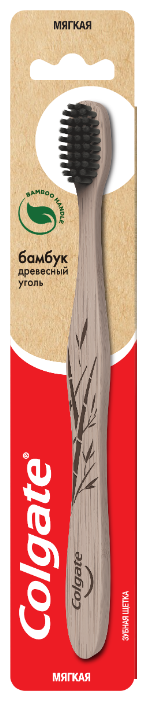 Зубная щетка Colgate Бамбук Древесный уголь, мягкая