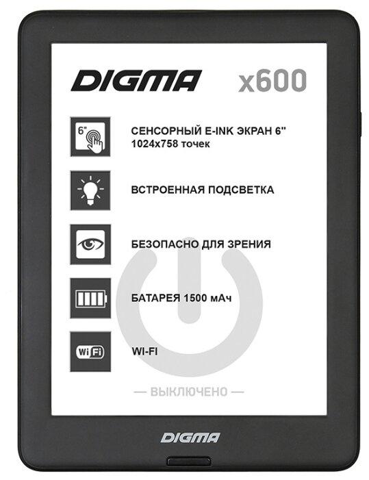 Электронная Книга Digma X600 черный