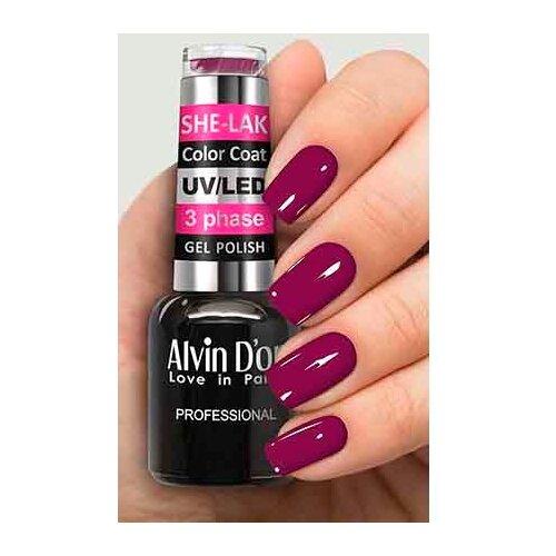 Купить Гель-лак для ногтей Alvin D'or She-Lak Color Coat, 8 мл, оттенок 3555