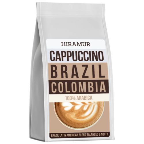 Кофе в зернах Hiramur Cappuccino, Brazil, Colombia, арабика, 200 г