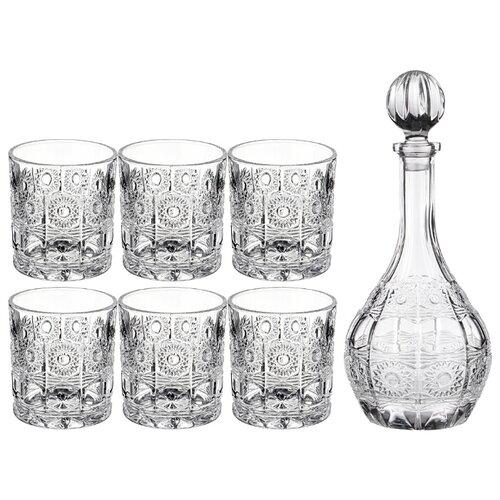 Набор для виски Lefard muza crystal 7 пр.: штоф + 6 стаканов 950/300 мл (195-187) недорого