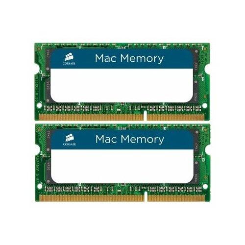 Купить Оперативная память Corsair DDR3 1333 (PC 10600) SODIMM 204 pin, 4 ГБ 2 шт. 1.5 В, CL 9, CMSA8GX3M2A1333C9
