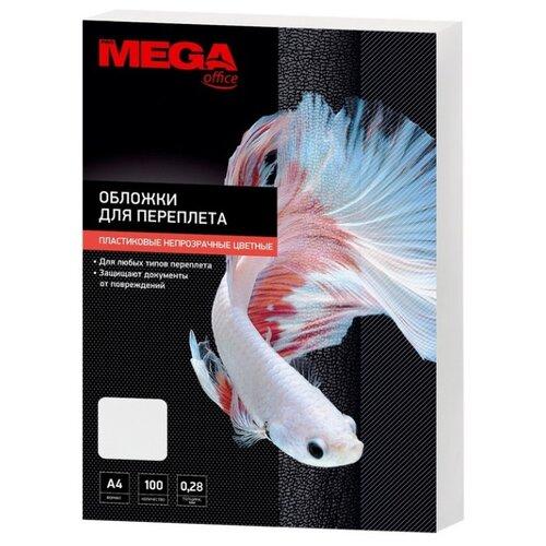 Обложки для переплета пластиковые Promega office белые, А4, 280мкм, 100 штук в упаковке