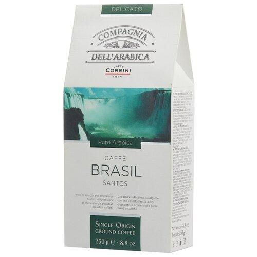 Фото - Кофе молотый Compagnia Dell` Arabica Brasil Santos, 250 г кофе молотый compagnia dell arabica brasil santos 125 г