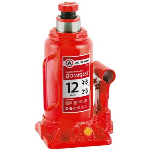 Фото - Домкрат бутылочный гидравлический AUTOPROFI DG-12 (12 т) красный аксессуары для автомобиля autoprofi домкрат бутылочный гидравлический 2 тонны dg 02k