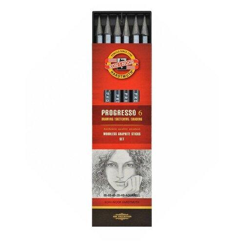 Купить KOH-I-NOOR Набор чернографитных карандашей Progresso 8915 6 шт (8915006001PZ ), Карандаши