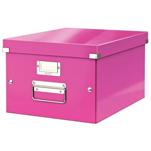 Купить Leitz Короб архивный Click & store WOW M А4, ламинированный картон розовый, Файлы и папки