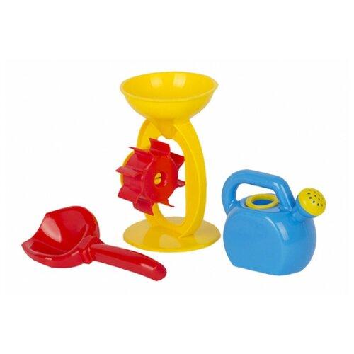 Купить Набор Стром для песка: мельница, лейка, совок желтый/синий/красный, СТРОМ, Наборы в песочницу