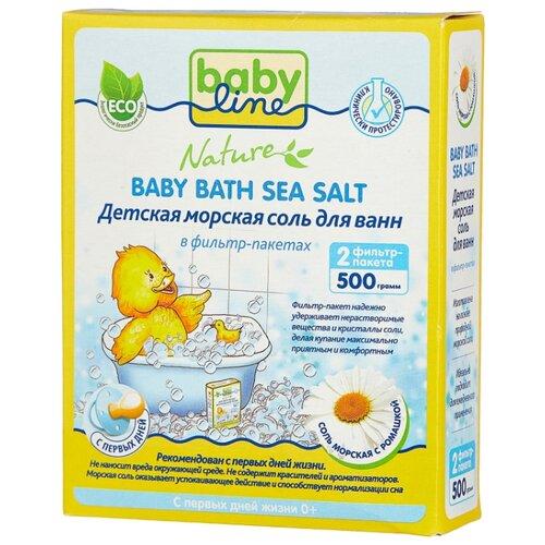 BabyLine Nature Морская соль с ромашкой 500 г (2 шт.) недорого