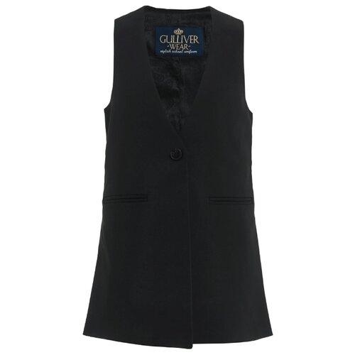 Жилет Gulliver размер 170, черный платье oodji ultra цвет красный белый 14001071 13 46148 4512s размер xs 42 170