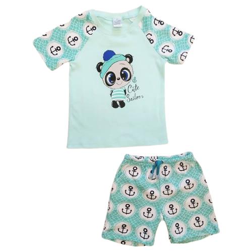 Купить Комплект одежды Mivilini размер 86, голубой, Комплекты
