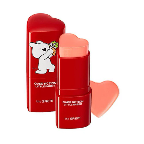 The Saem Румяна-стик Over Action Little Rabbit Love Me CR01 Love Delight the saem стик over action little rabbit eco earth power clear sun spf 50 13 г 1 шт