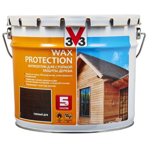 V33 Wax Protection темный дуб 9 л
