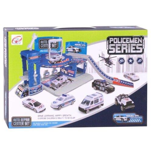 Купить Tian Hong Toys Полиция серый/синий, Детские парковки и гаражи