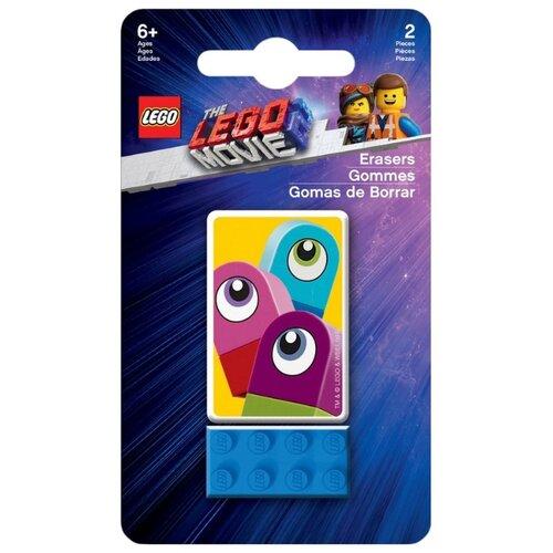 Купить LEGO Набор ластиков Movie 2 Duplo 2 шт. синий/желтый, Ластики
