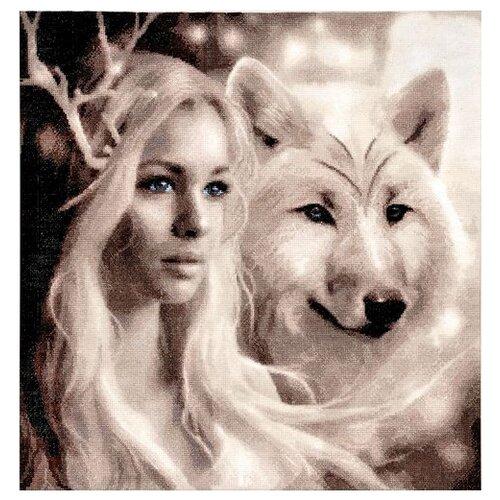 Купить Hobby & Pro Набор для вышивания Волчицы 39 х 41 см (715), Наборы для вышивания