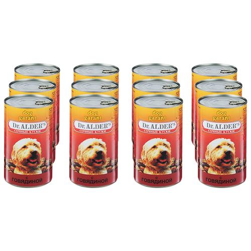 Фото - Влажный корм для собак Dr. Alder`s говядина 12 шт. х 1.2 кг влажный корм для собак dr alder s ягненок 12 шт х 750 г