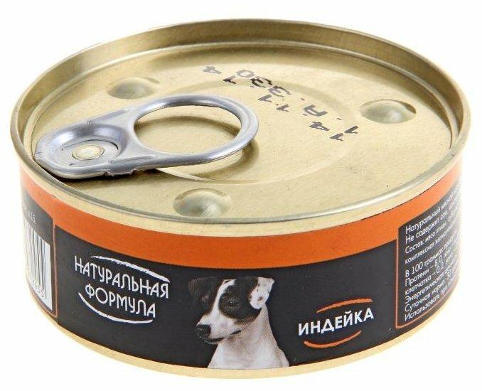 Корм для собак Натуральная Формула Консервы для собак Индейка (0.1 кг) 1 шт.