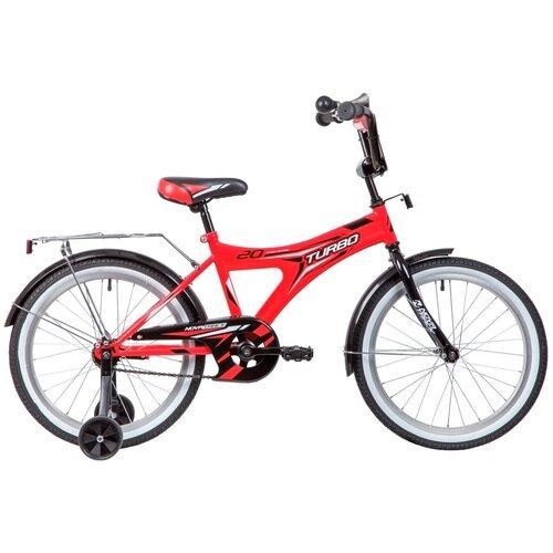 Фото - Детский велосипед Novatrack Turbo 20 (2019) красный (требует финальной сборки) детский велосипед novatrack urban 20 2019 синий требует финальной сборки