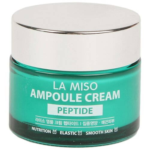 La Miso Ampoule Cream Peptide Крем для лица с пептидами, 50 г la miso ampoule cream hyaluronic крем для лица с гиалуроновой кислотой 50 г