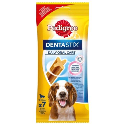 Лакомство для собак Pedigree Denta Stix для средних пород, 7 шт. в уп.