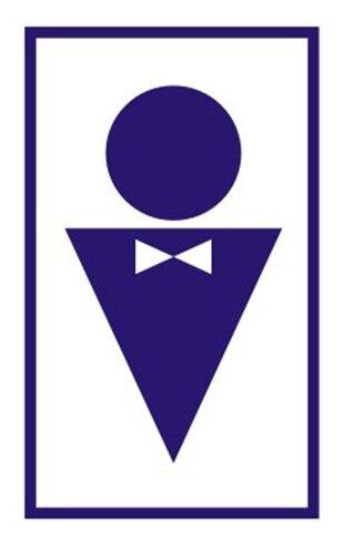 Наклейка Фолиант Туалет мужской В37