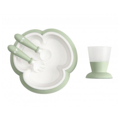 Купить Комплект посуды BabyBjorn (0781) светло-зеленый, Посуда