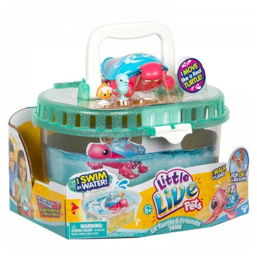 Купить Moose Moose Little Live Pets Интерактивная черепашка Песчинка и ее друзья с аквариумом 28563, Игровые наборы и фигурки