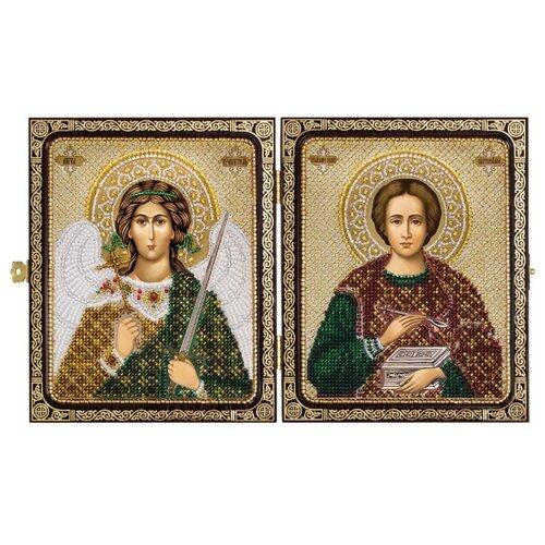 NOVA SLOBODА Набор для вышивания бисером Святой Великомученик Целитель Пантелеймон и Ангел Хранитель 23 x 14.2 см (СЕ7203 ) набор для вышивания иконы nova sloboda се 7108 св великомученик и целитель пантелеймон
