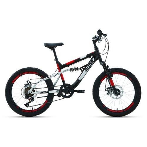 """Подростковый горный (MTB) велосипед ALTAIR MTB FS 20 Disc (2020) черный 13"""" (требует финальной сборки)"""
