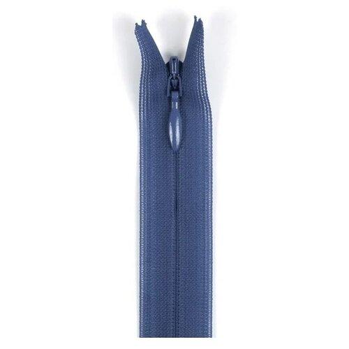 Купить YKK Молния потайная неразъемная 0004715/60, 60 см, 839 джинсово-голубой/джинсово-голубой, Молнии и замки