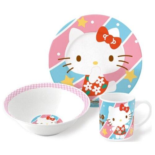 Фото - Набор для завтрака Stor Hello Kitty (46285), 1 персона белый/голубой/розовый stor термосумка hello kitty