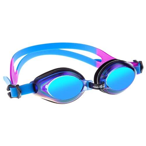 Очки для плавания MAD WAVE Aqua Rainbow blue очки для плавания mad wave aqua pink white