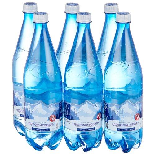 Вода минеральная Горные сосны Доломитовая негазированная, ПЭТ, 6 шт. по 1 л