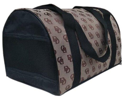 Переноска-сумка для собак Теремок СП-1 34х21х22 см коричневые буквы