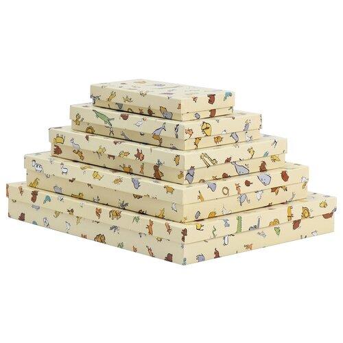 Фото - Набор подарочных коробок Мишель Фокс В мире животных №13, 5 шт желтый набор подарочных коробок tai an baoli paper product co ltd фауна 17 шт желтый