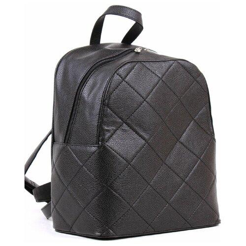 Рюкзак черный Медведково из искусственной кожи