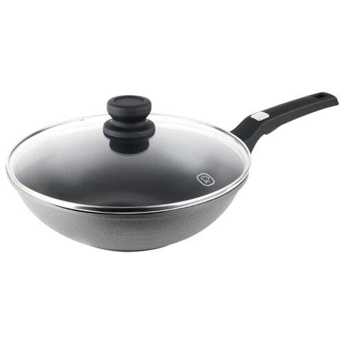 Сковорода-вок Rondell Escurion Grey RDA-1123 28 см с крышкой, кофейно-коричневый 1142 rda вок casual 28 8 0 см rondell