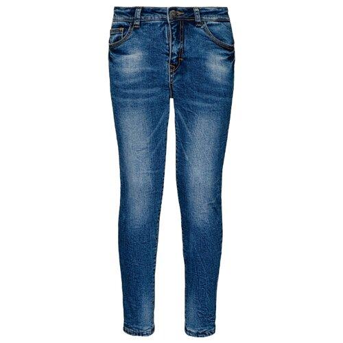 Джинсы Gulliver размер 134, синий джинсы gulliver размер 134 синий